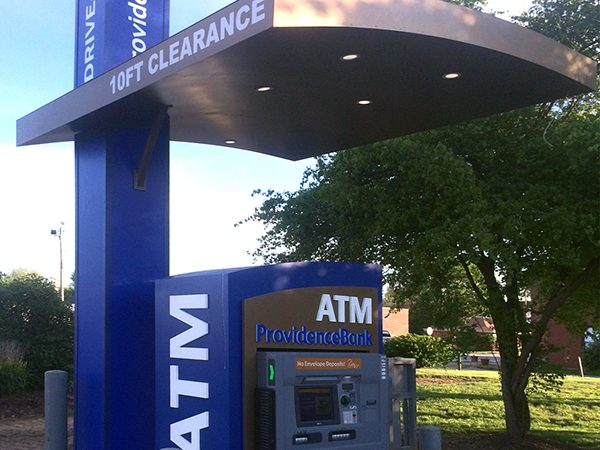 Custom ATM enclosures and canopies are a great way to add brand awareness.